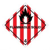 Hazard safety sign - Flammable Solid (4) 037